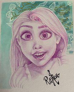 Rapunzel fan art (print)