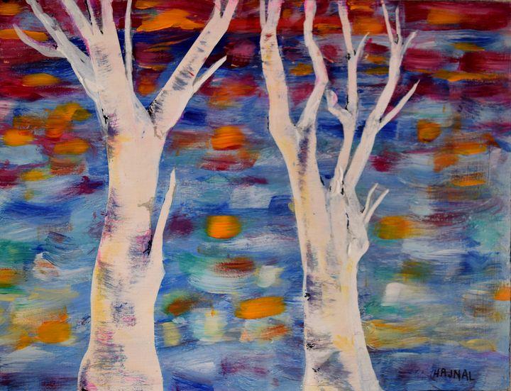 Fall Birches - Hajna V. Csorba, Artist.