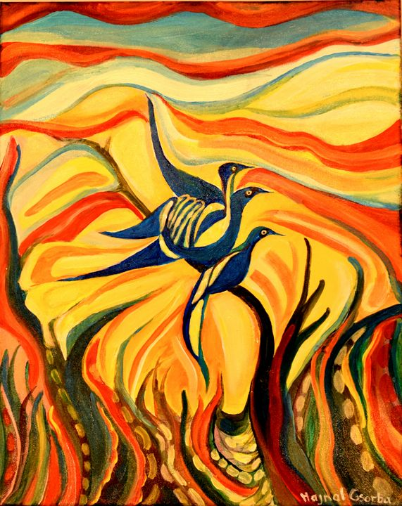 Blue Bird Trio in the Sun - Hajna V. Csorba, Artist.