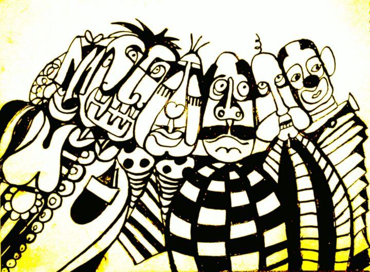 My Clown Friends - Hajna V. Csorba, Artist.