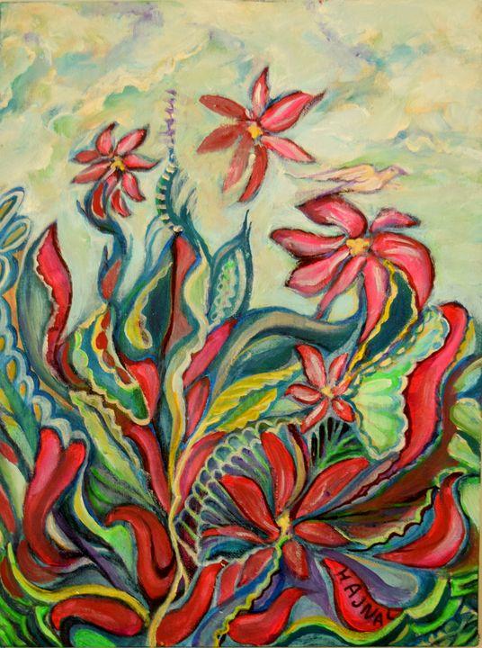 Spring Flowers1 - Hajna V. Csorba, Artist.