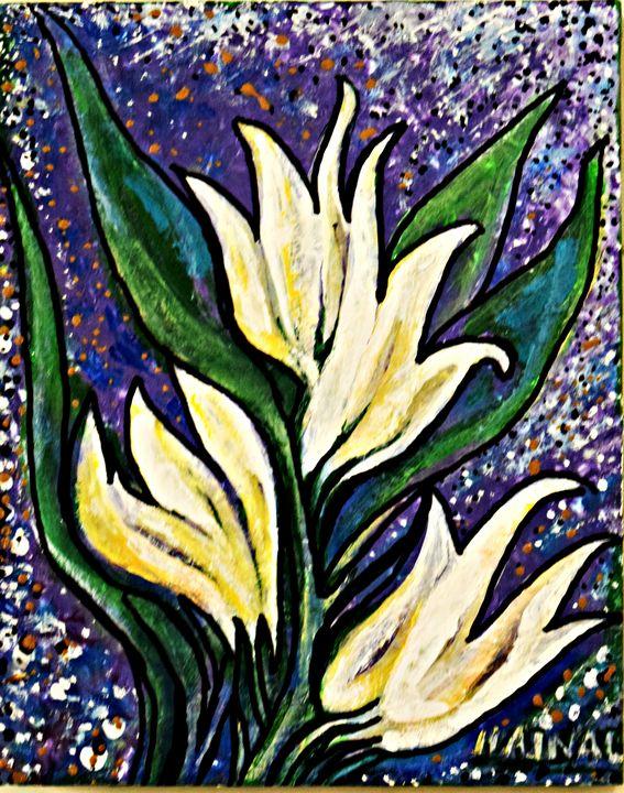 White Lillies - Hajna V. Csorba, Artist.