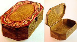 Decorated Wood Box