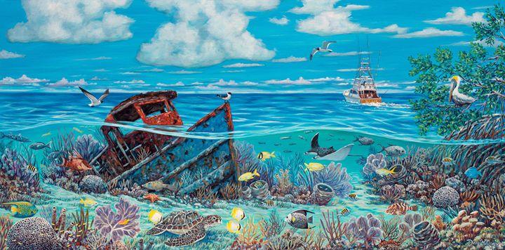 Tug Boat Reef - Danielle Perry Fine Art