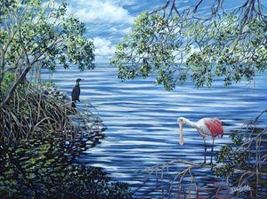 Fishing the Mangroves - Danielle Perry Fine Art