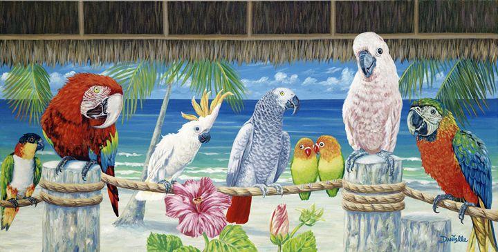 Parrots in Paradise - Danielle Perry Fine Art