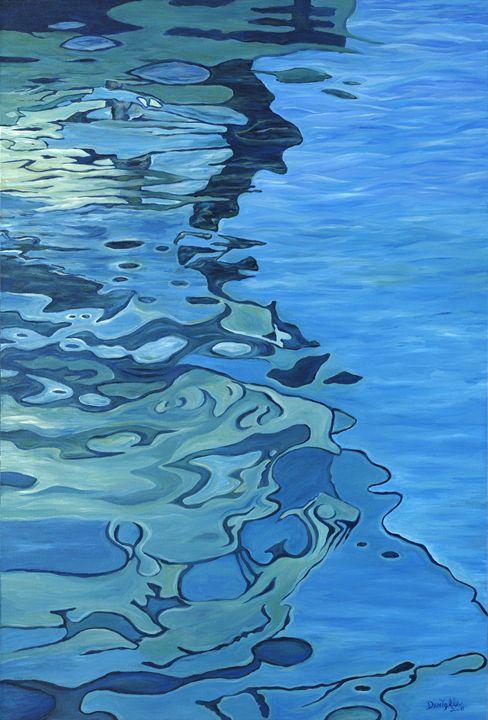 Blue Reflections - Danielle Perry Fine Art