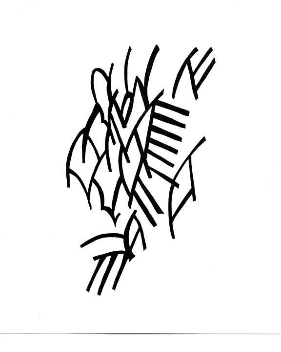 Line doodle - The J Bonham Collection