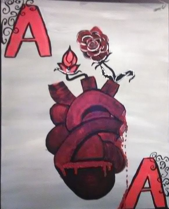 The Ace of Hearts - Art By Kristi V