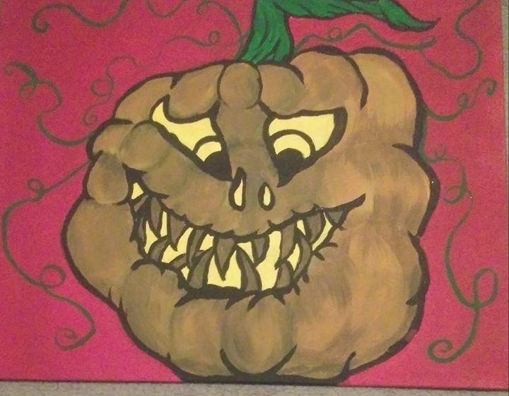 Stumpy the 1st Pumpkin Stooge - Art By Kristi V