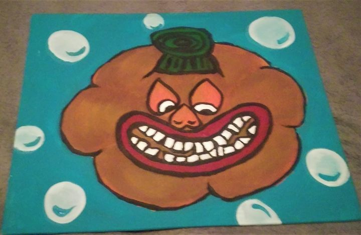 Squeeky the Second Pumpkin Scrooge - Art By Kristi V