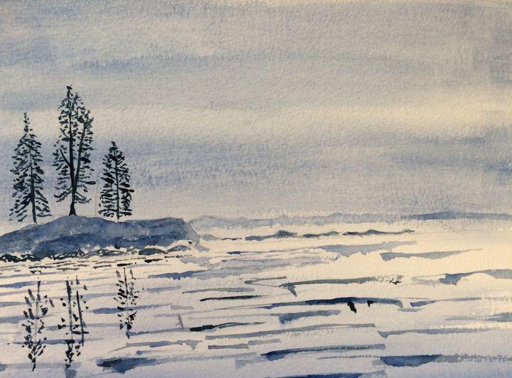 Misty Lake at Dawn - FarraSpace