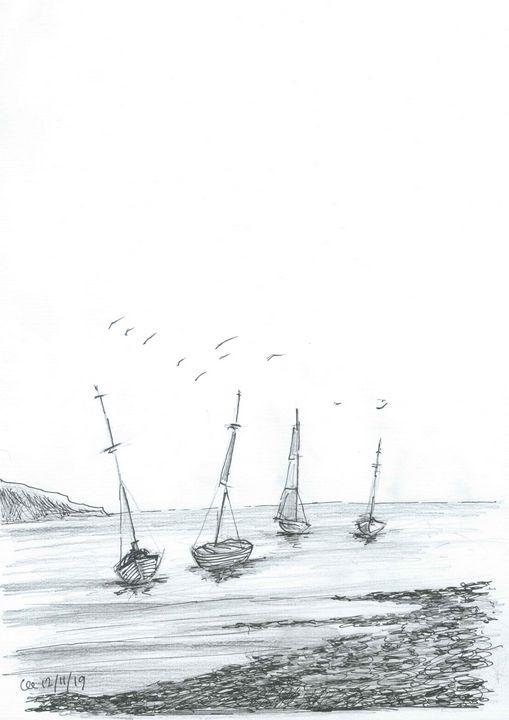Boats in the tide - FarraSpace