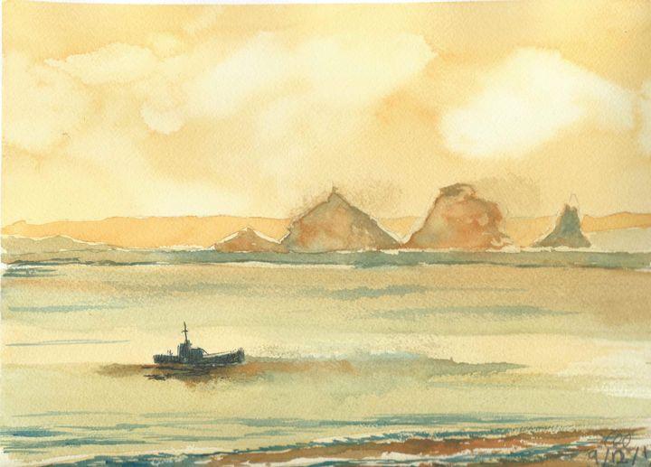 Sailing through the sunset - FarraSpace