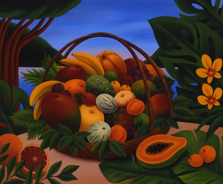 """Basket of Exotic Fruits"" - Naoko Paluszak"
