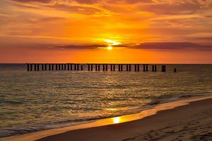 Sunset over Florida Stonehenge
