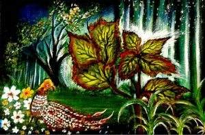 """Golden red Pheasant in The  Jungle"""
