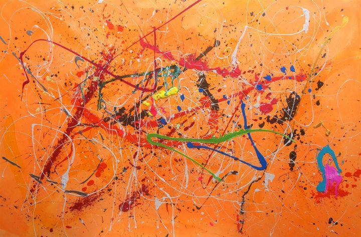 Orange Abstract - JOSEPH J WALKER ART