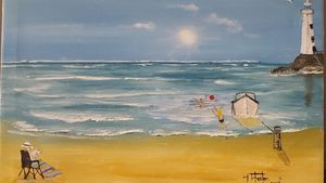 LIGHT HOUSE ON SEA / SOLD