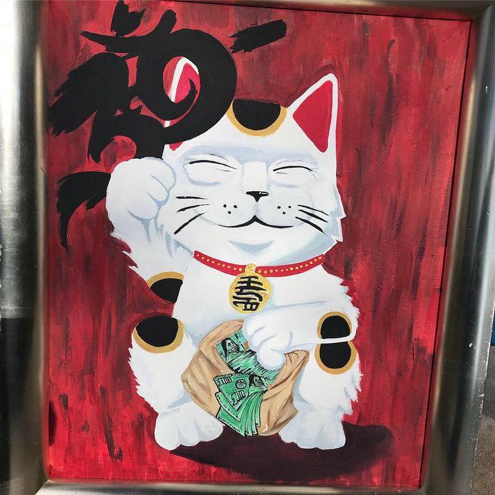 "Lucky cat ""maneki neko"" - Zoar banks"