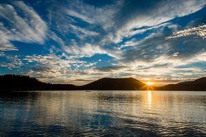 East Lake Oregon Sunset
