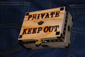 PRIVATE KEEP OUT CHEST - T M Rogers Artfx