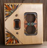 Custom Tropical Wood Switchplate