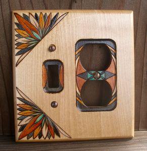 Custom Woodburned Switchplate