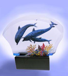 Blue Dolphins - ACRYLICARTE