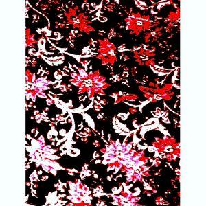 Dark and Red Vintage Flowers Photo