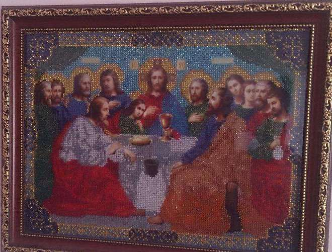 The last supper - Bead embroidery