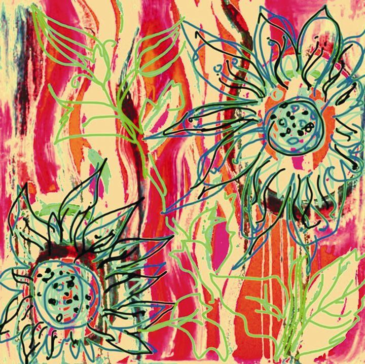 Savanna Floral - Diana Abrahamson Art Studio