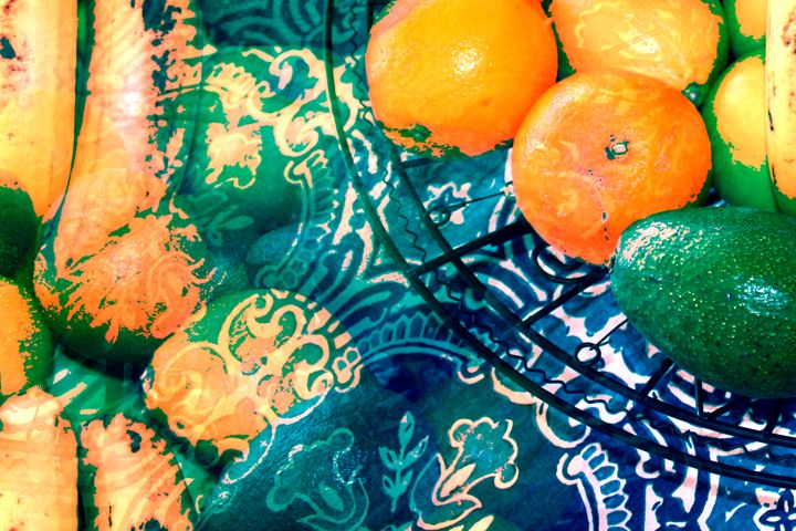 Exotic Abstract Fruit - Diana Abrahamson Art Studio