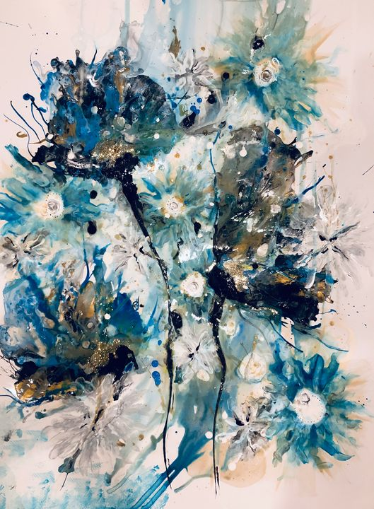 Floral abstract - Chetna's Art