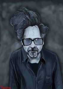 Tim Burton - Illustration by Kostas Roussos
