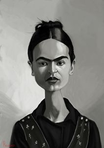 Frida Kahlo - Illustration by Kostas Roussos