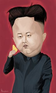 Kim yong-jun caricature