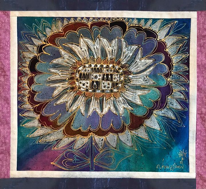 The Blue Sunflower - Irma Khoperia