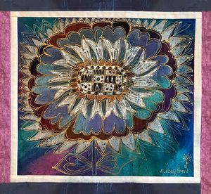 The Blue Sunflower - Irma Khoperia