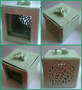 Elven Glaze ceramic candle box