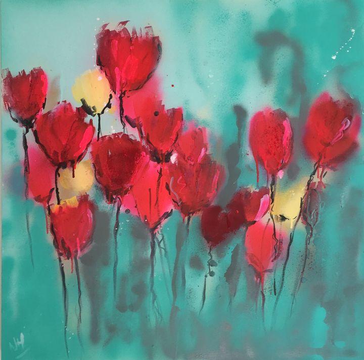 Red and Yellow Tulips - Nineke Havinga