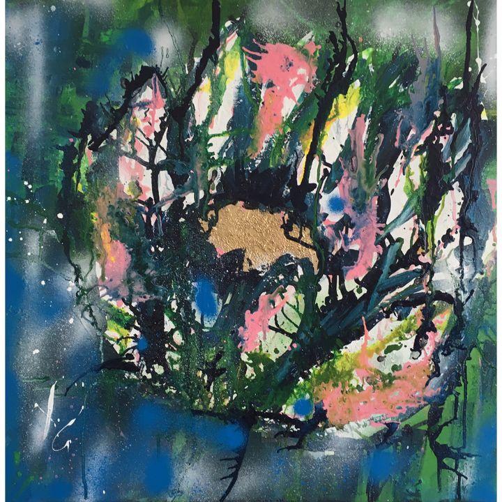 Abstract Lotus Flower - Nineke Havinga