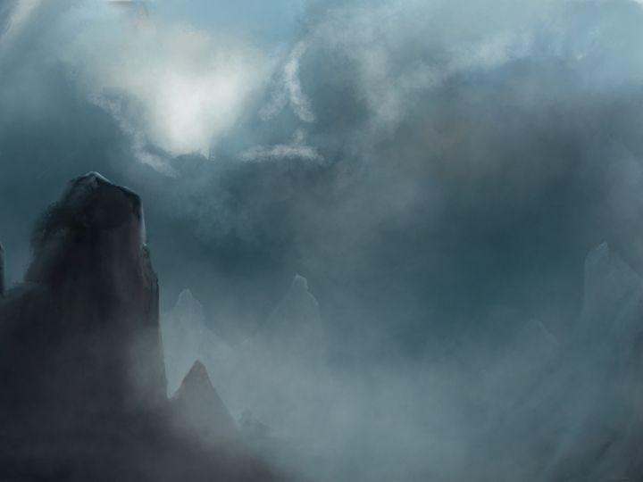 Misty Mountains - JaggySnake Illustration