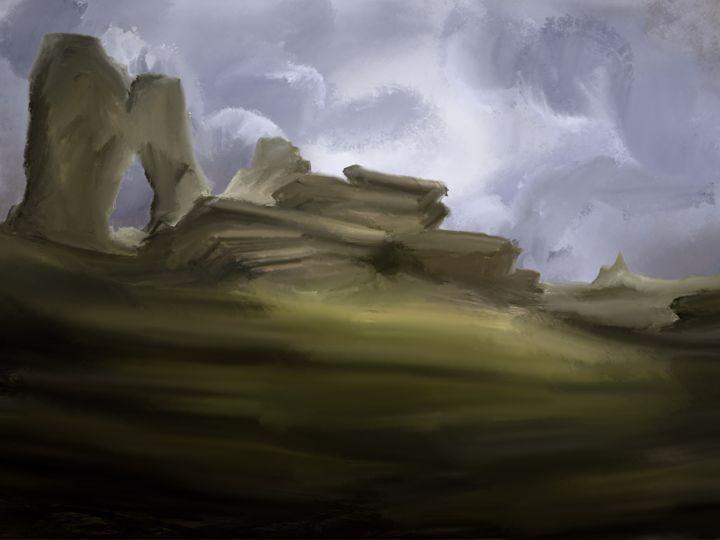 Rocky hill - JaggySnake Illustration