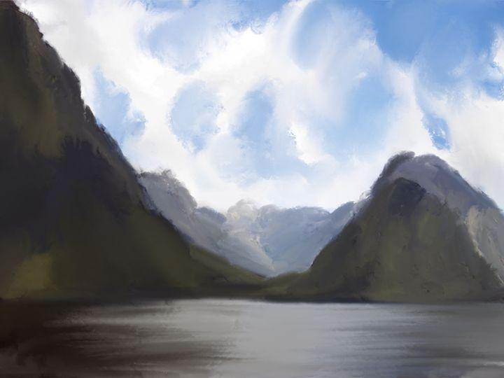 By the Lake - JaggySnake Illustration