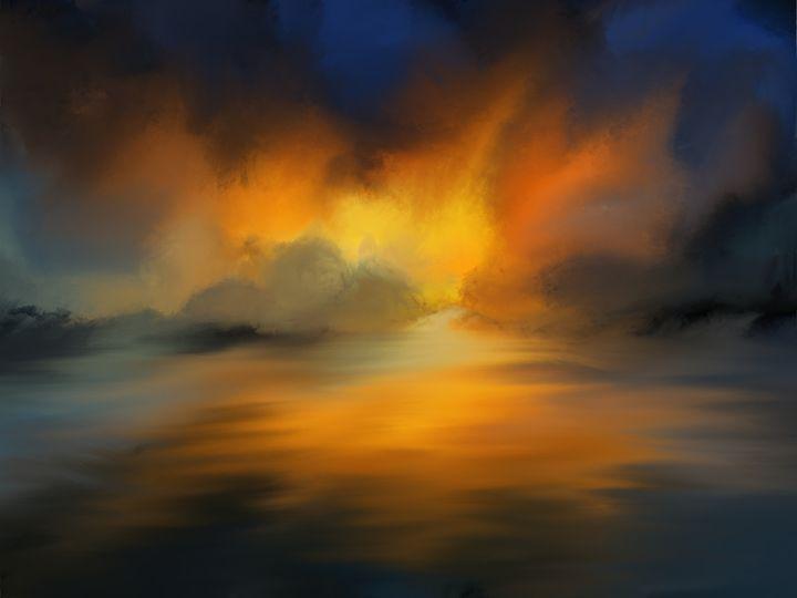 Fiery Sunset #2 - JaggySnake Illustration
