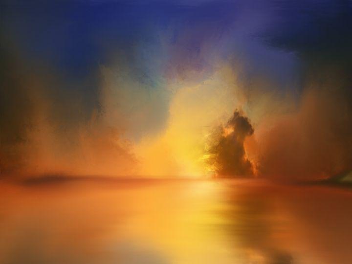 Fiery Sunset - JaggySnake Illustration