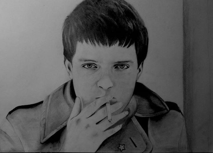 Ian Curtis - Portraits, pencil