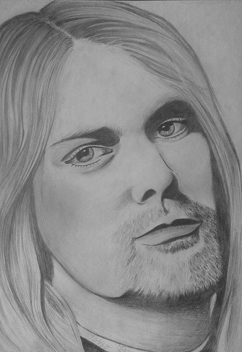 Kurt Cobain - Portraits, pencil