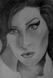 Amy Winehouse - Portraits, pencil